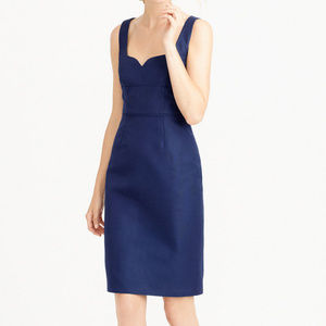J CREW Mae Dress in Classic Faille 8 Haven Blue